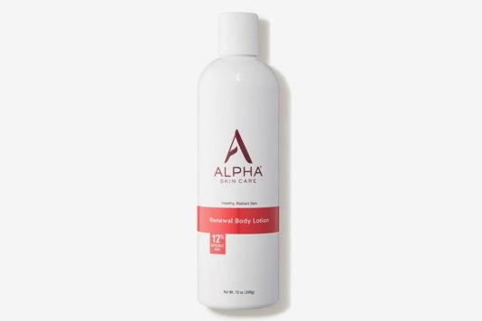 Alpha Skincare Renewal Body Lotion 12% Glycolic AHA.