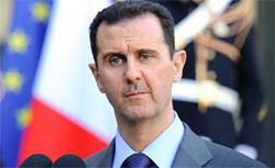 Syrian president Bashar al-Assad. Click image to expand.
