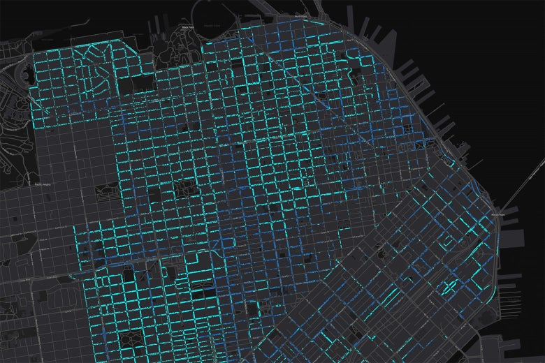 Parking map of San Francisco.