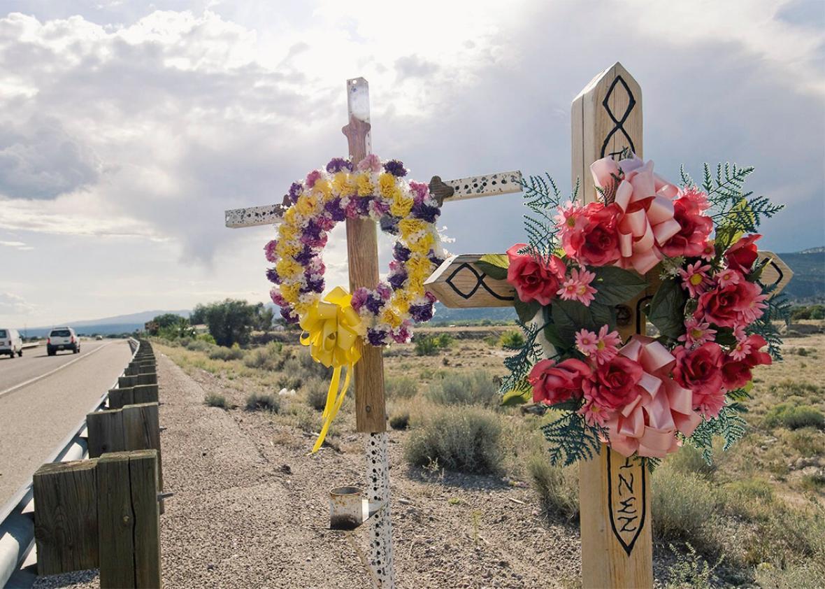 Roadside Memorial in New Mexico.