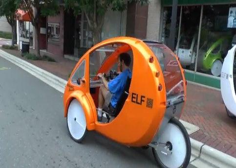 Organic Transit S Elf Vehicle Is Part Bike Car