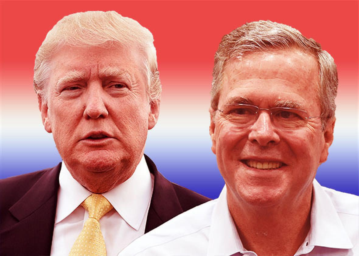 Donald Trump and Jeb Bush are polar opposites on immigration. Where on the spectrum will the GOP fall?