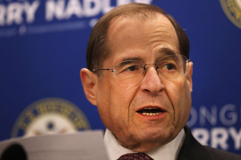 Rep. Jerrold Nadler speaks at a press conference.