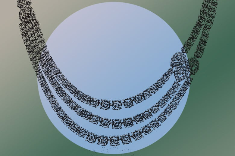 Expensive-looking necklace with lots of diamonds