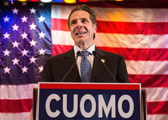 New York State Governor Andrew Cuomo speaks at an event to support his reelection on October 30, 2014 in New York City.