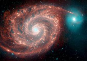 Spitzer picture of M51