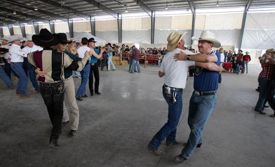 Couples dance at the International Gay Rodeo Association.