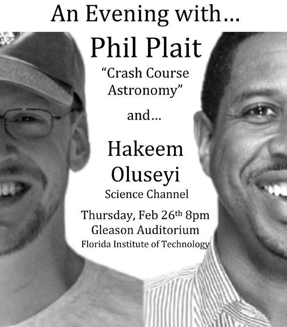 Phil Plait and Hakeem Oluseyi