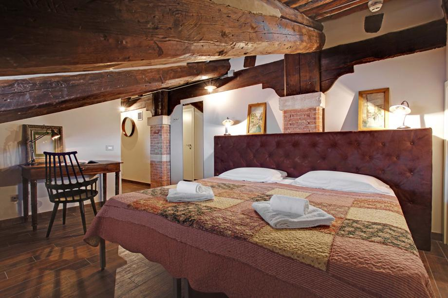 An attic suite at Generator Venice.