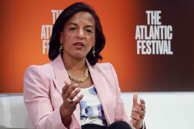 Former national security adviser Susan Rice speaks at the Atlantic Festival in Washington, D.C. on September 25, 2019.