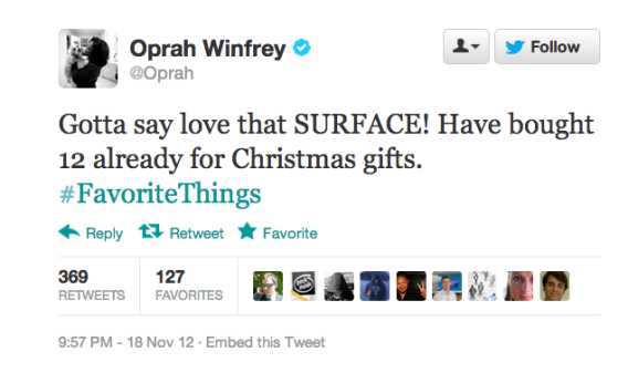 Microsoft hopes Oprah's fans will do as she says, not as she does.