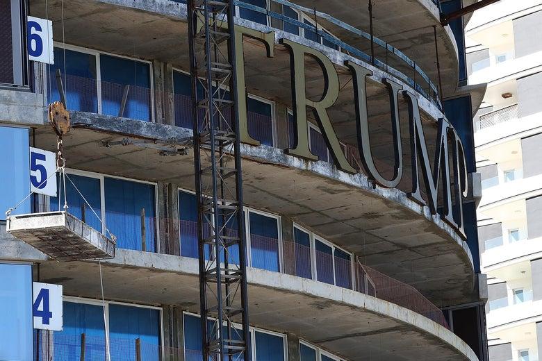 A view of Trump Tower Punta del Este, a Trump-branded luxury tower under construction on November 19, 2018 in Punta del Este, Uruguay.