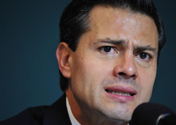 Mexican president Enrique Pena Nieto in November 2011 in Washington, DC.