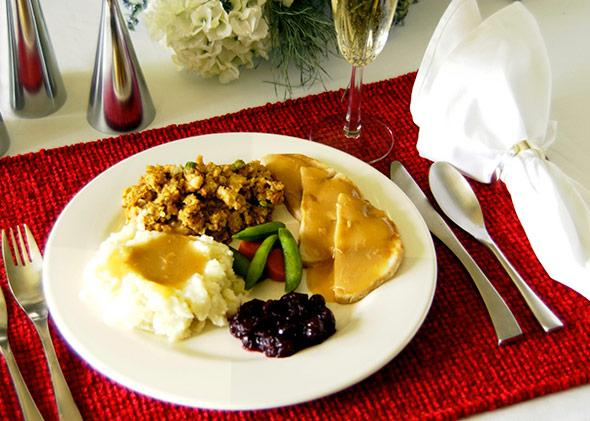 A typical Thanksgiving plate.