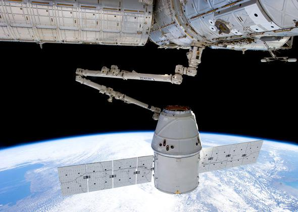 ISS and Dragon capsule