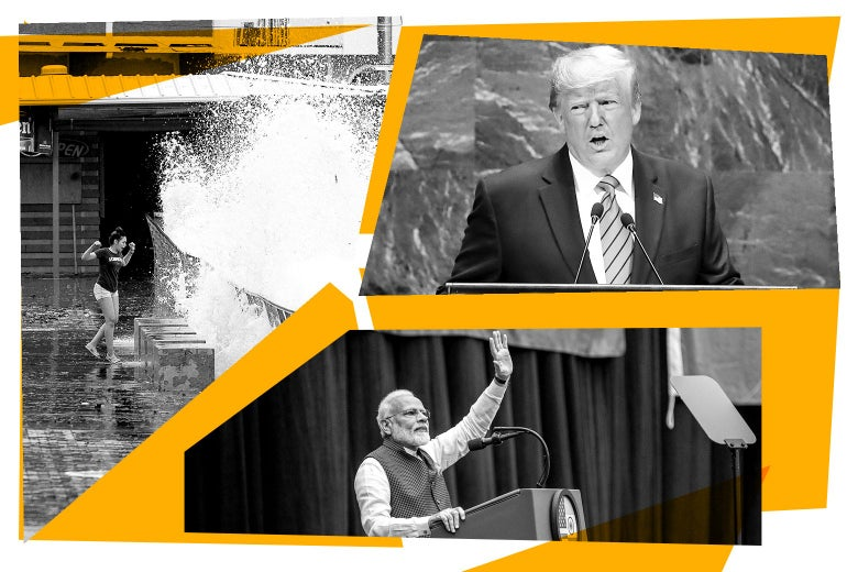 Tropical Storm Karen, Donald Trump at the U.N., Narendra Modi.
