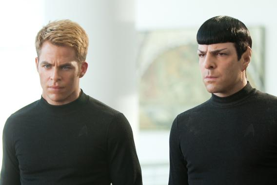 """Chris Pine and Zachary Quinto in """"Star Trek Into Darkness"""""""
