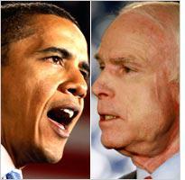 Barack Obama and John McCain. Click image to expand.