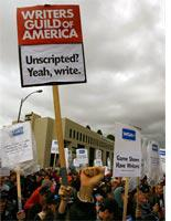 Writers on strike. Click image to expand.