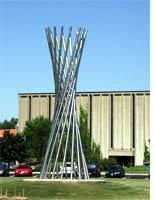"""The """"Tractricious"""" sculpture"""