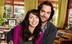 """Whitney Cummings as Whitney Cummings, Chris D'Elia as Alex Miller in """"Whitney."""" Click image to expand."""