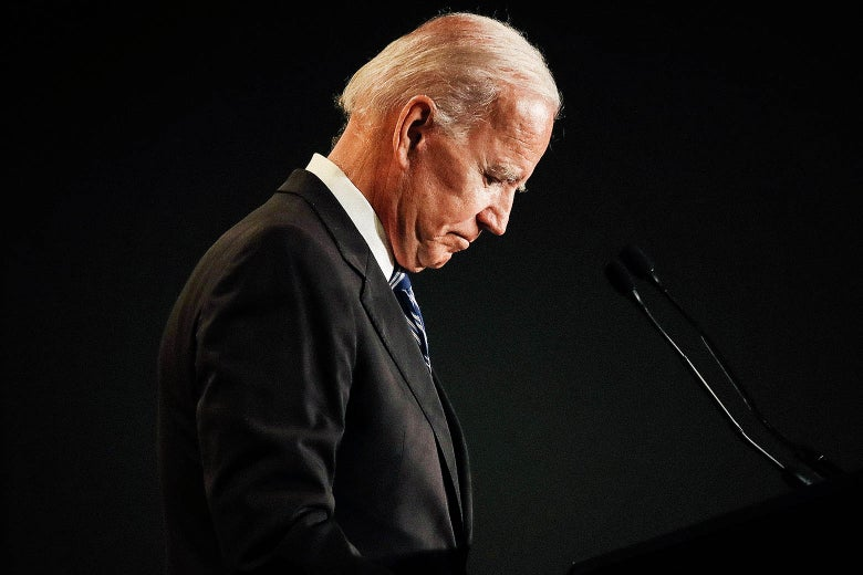 Joe Biden speaks at the International Association of Fire Fighters legislative conference on March 12 in Washington.