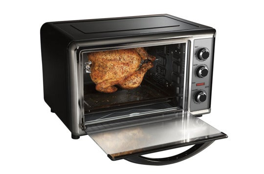 Hamilton Beach countertop oven with convection and rotisserie.