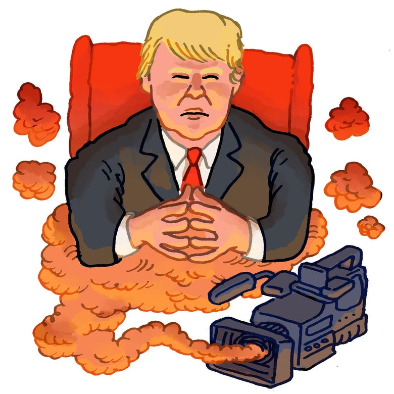 Illustration of Donald Trump.
