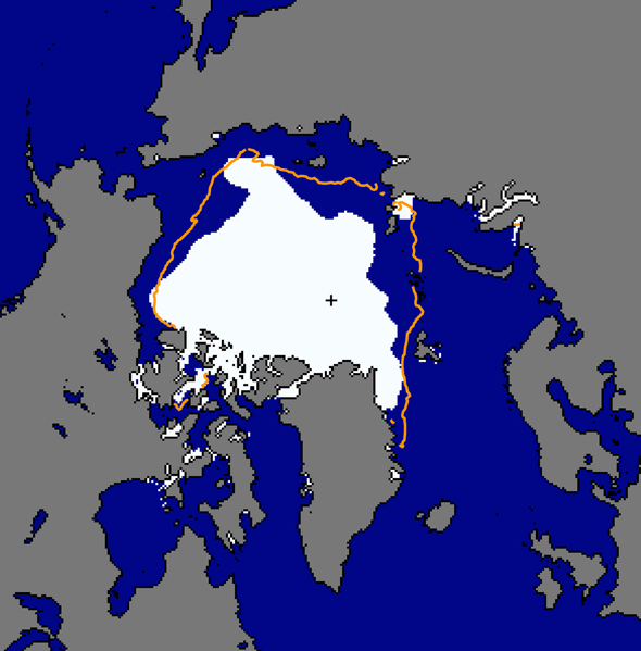 Arctic sea ice minimum 2013