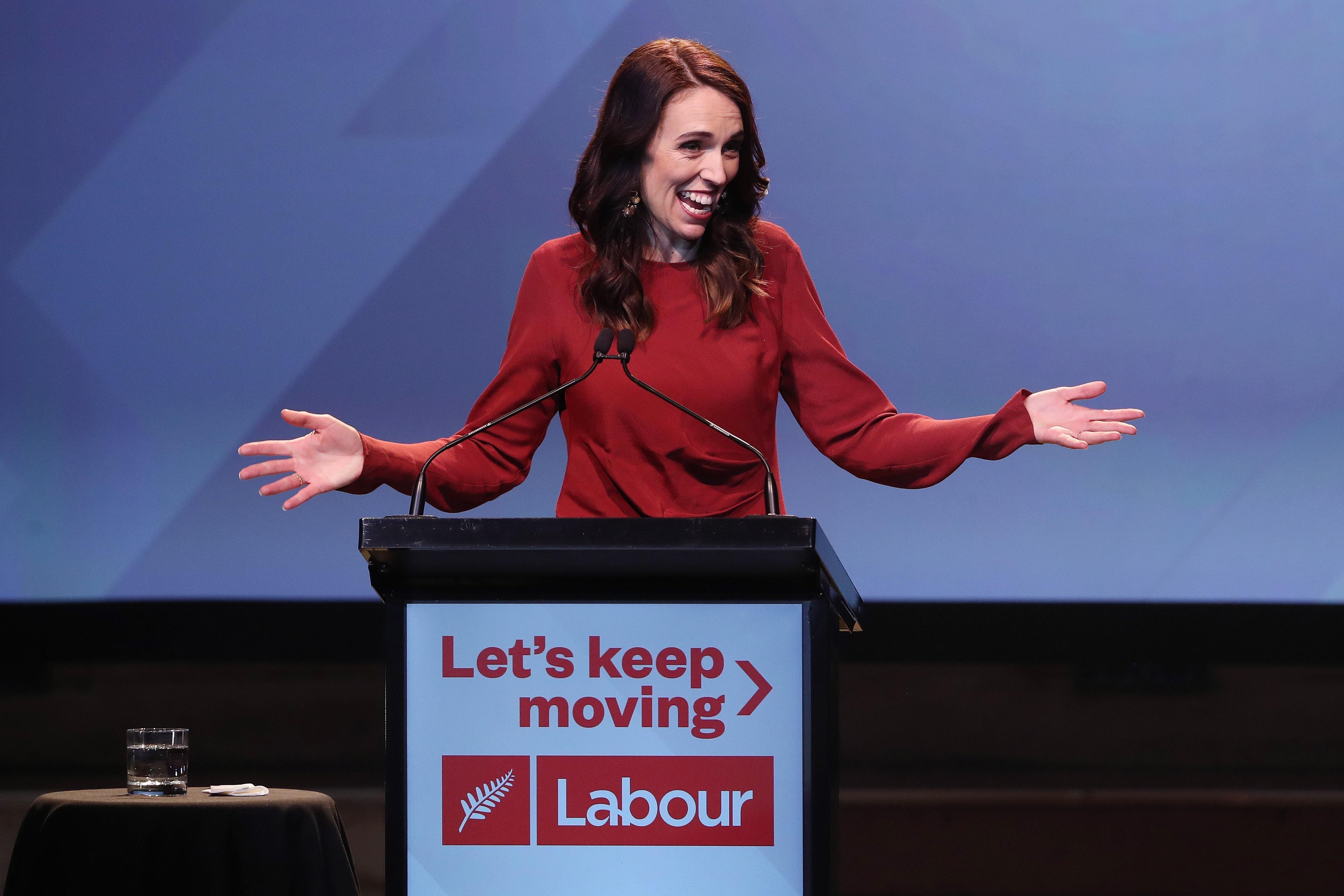 New Zealand Prime Minister Jacinda Ardern wins second term by landslide.