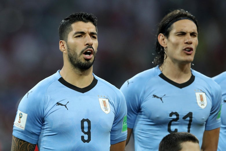 premium selection 0ea4e 4f5fb Uruguay beat France 2–1 thanks to World Cup bash brothers ...