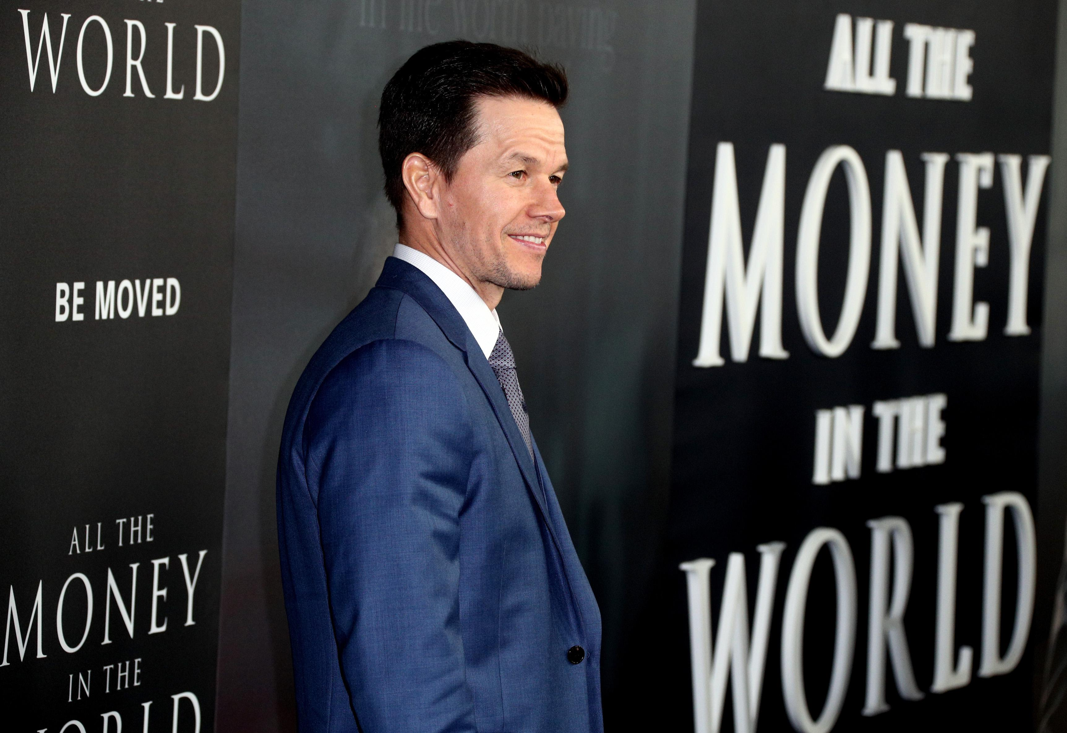 "Mark Wahlberg attends the premiere of ""All The Money In The World."""