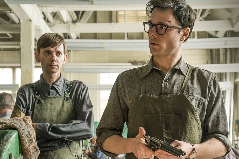 DJ Qualls and Rupert Evans in Amazon's The Man in the High Castle.