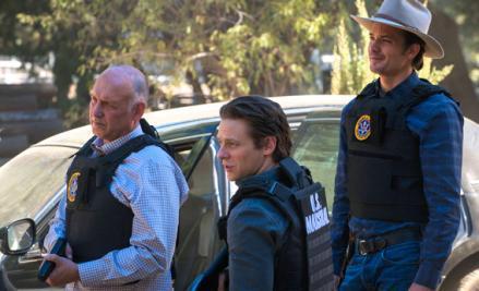 Nick Searcy as Chief Deputy U.S. Marshal Art Mullen, Jacob Pitts as Deputy U.S. Marshall, Tim Gutterson, Timothy Olyphant.