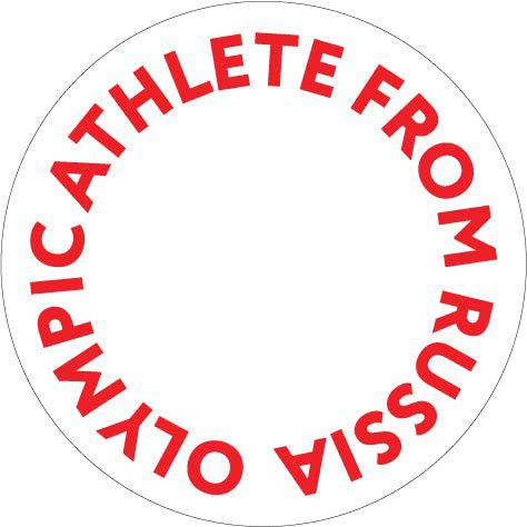 The circular logo of the Olympic Athletes from Russia