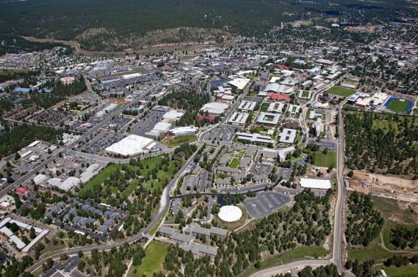 Northern Arizona campus aerial