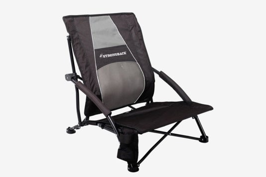 Strongback Low Gravity Beach Chair With Lumbar Support.