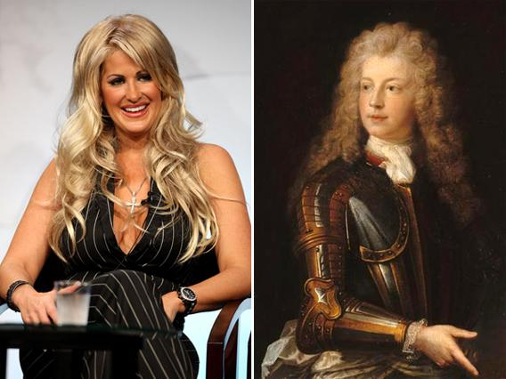 Star Kim Zolciak of 'The Real Housewives Of Atlanta' and Louis-Auguste II de Bourbon.