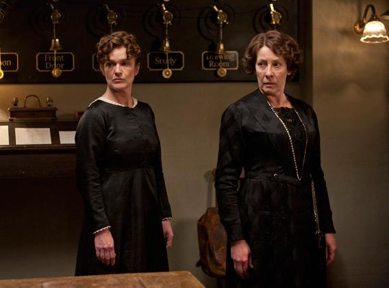 The women downstairs at Downton Abbey.