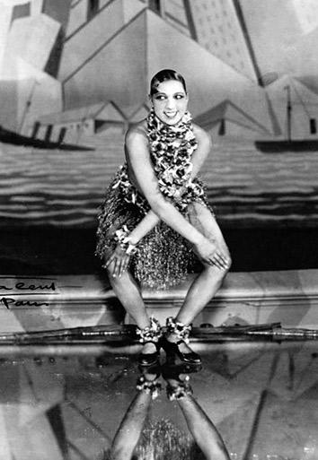 Josephine Baker dancing the Charleston at the Folies-Bergère, Paris.