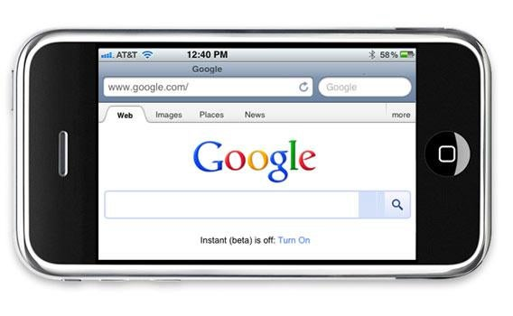 iPhone with Google search.