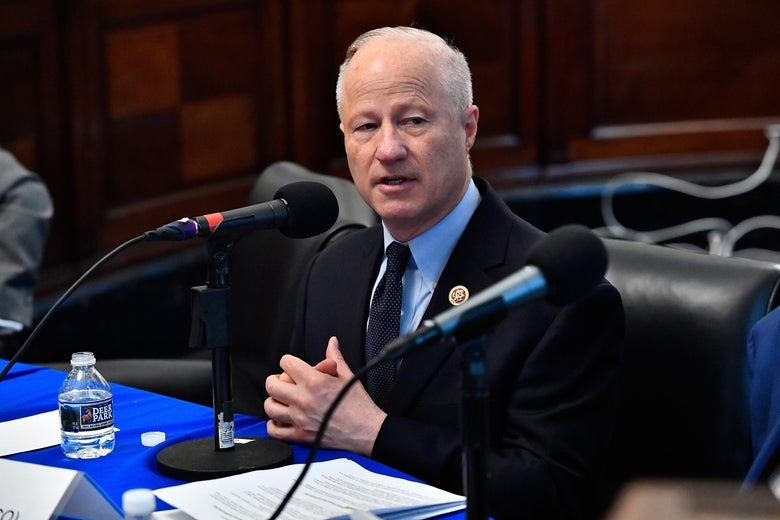 Rep. Mike Coffman appears on at a SiriusXM event on Capitol Hill.