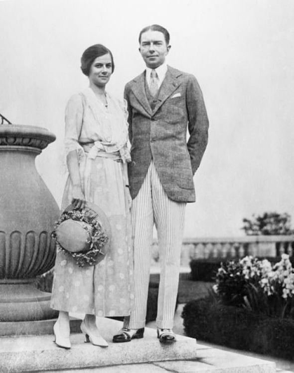 Henry Francis du Pont and wife, Ruth, 1916.