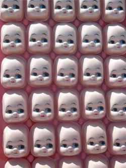 Doll heads.
