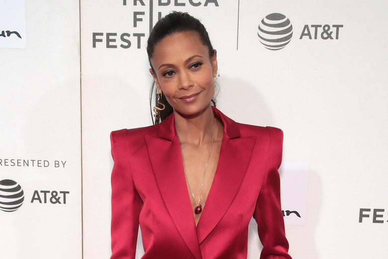 Thandie Newton attends the premiere of Westworld during the 2018 Tribeca Film Festival at BMCC Tribeca PAC on April 19, 2018 in New York City.