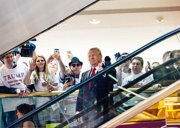 Donald Trump announcing candidacy