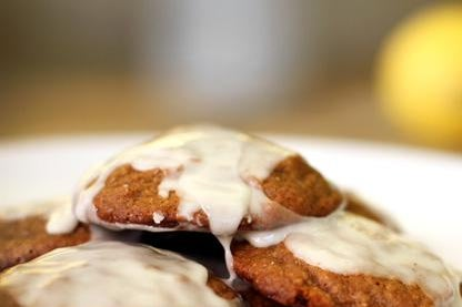 Gingerbread Cookies with Lemon Glaze