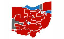 Gerrymandered congressional districts in Ohio