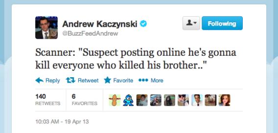 """Suspect """"online postings"""" tweet"""