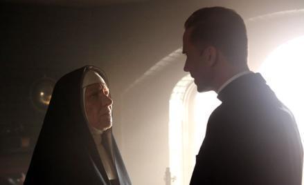 Barbara Tarbuck as Mother Claudia, Joseph Fiennes as Monsignor Timothy Howard.